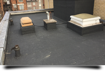 Flat roof repair and replacement by T. J. Copping Ltd Roofing
